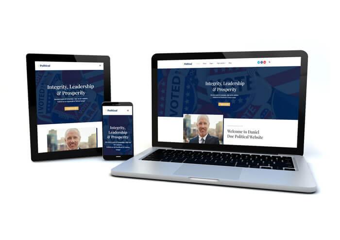 responsive political campaign website