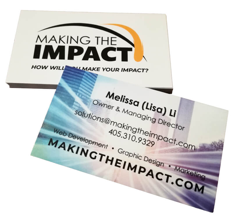 Making The Impact business cards