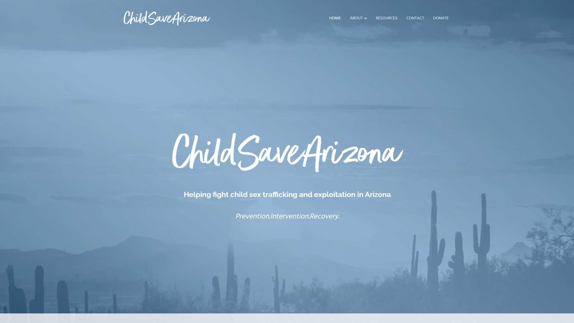 child save arizona website preview